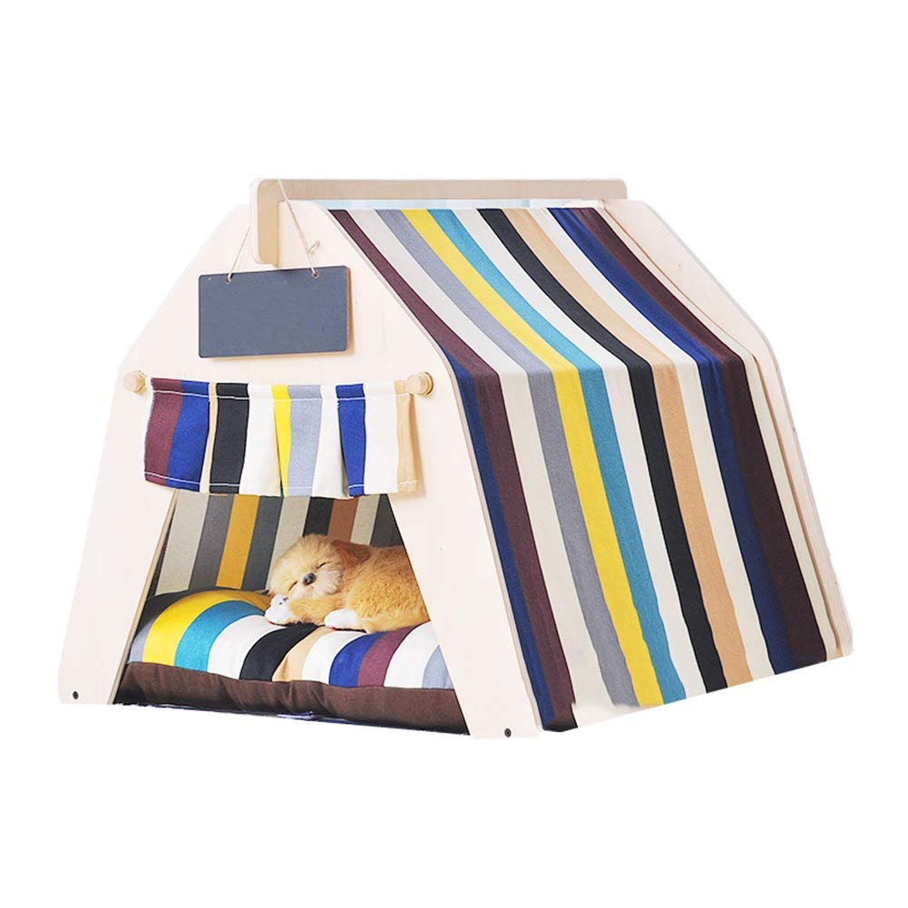 4 (no mat) M 4 (no mat) M Ryan Dog Teepee, Dog Puppy Cat Bed Portable House Pet Tent Indoor Pet House For Cat Dog Pet Nest (color   4 (no mat), Size   M)