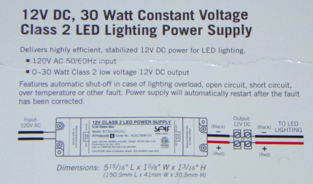 Armacost Lighting 12V Low Voltage LED Lighting Power Supply (Output ...