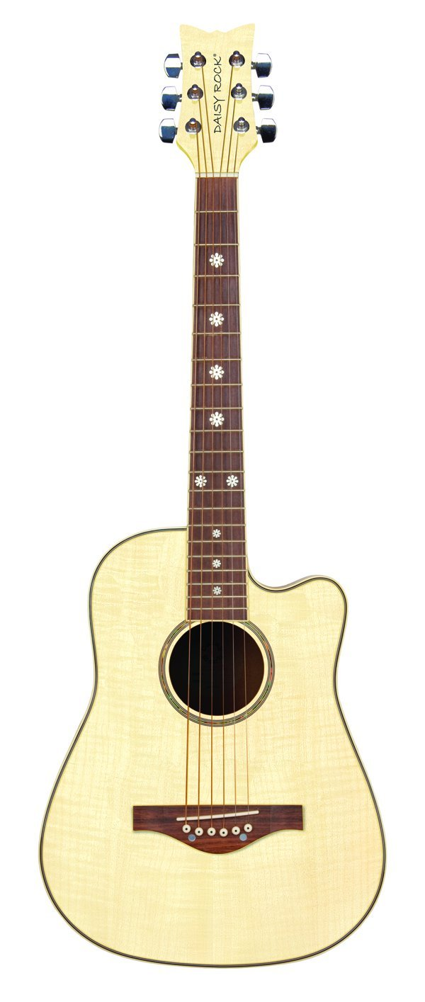 Daisy Rock Wildwood Short Scale Acoustic Guitar, Bleach Blonde by Daisy Rock