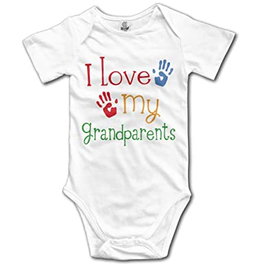 b6eae939f Amazon.com  Love My Grandparents Baby Boys  And Girl s Bodysuits ...