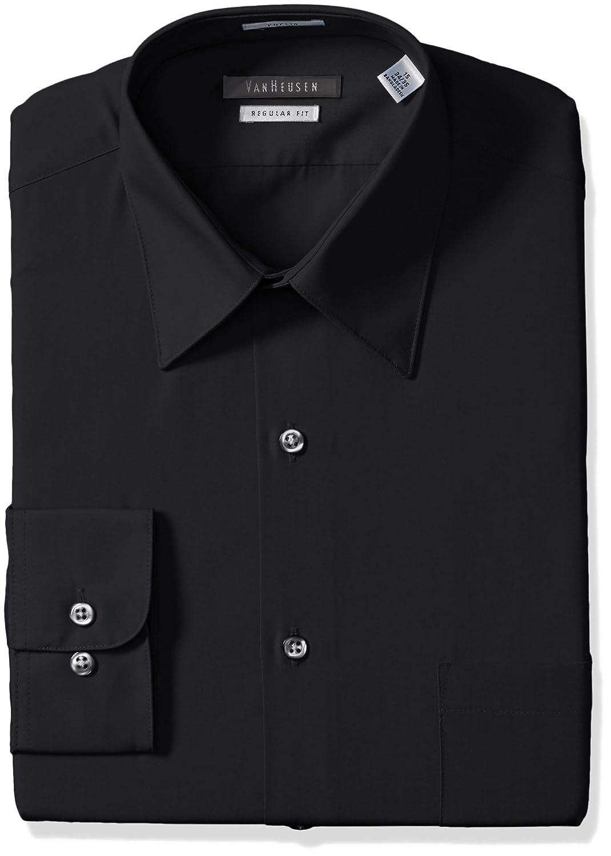 95ffd1bd6 Van Heusen Men s Poplin Regular Fit Solid Point Collar Dress Shirt ...