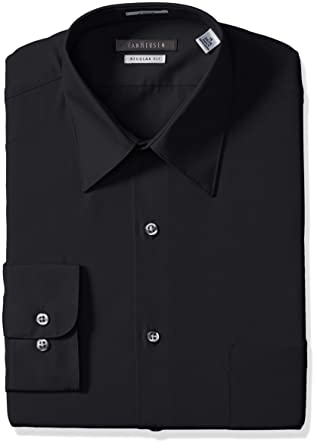0cd4c94866b Van Heusen Men s Dress Shirt Regular Fit Poplin Solid at Amazon ...