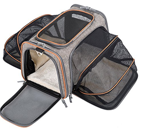 (MOVEPEAK Pet Carrier for Cats,Dogs,Puppy with Airline Approved - Expandable Soft Sided Pet Tote Carriers Bags,Folding Pets Kitten Cat Carriers Bags,Portable Pet Supply Carrier Bags for)