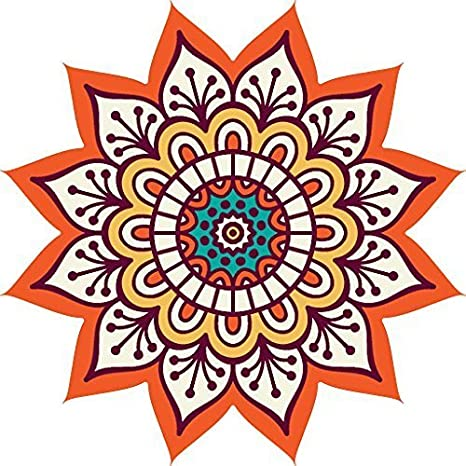 Buy Paper Plane Design Rangoli Floor Sticker Pvc Vinyl 60 Cm X 60
