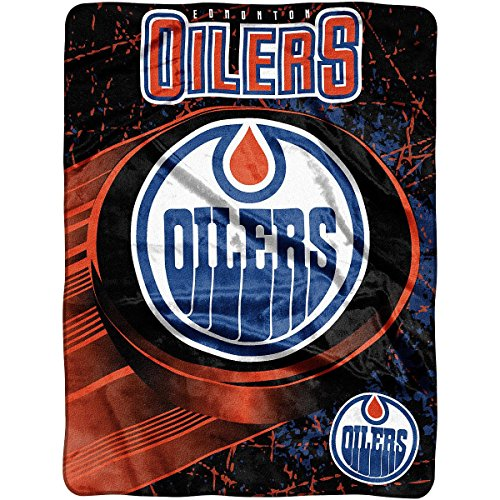 Officially Licensed NHL Edmonton Oilers Ice Dash Micro Raschel Throw Blanket, 46