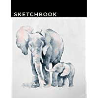 Sketchbook: A Cool Elephant Themed Personalized Artist Sketch book Notebook and Blank Paper for Drawing, Painting Creative Doodling or Sketching.
