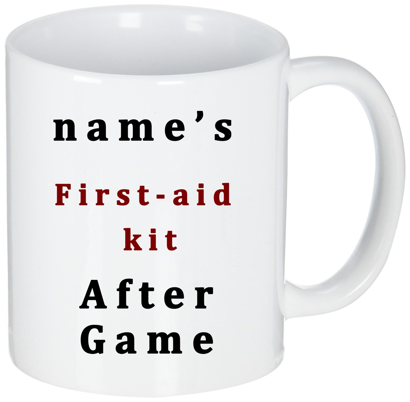 Personalized Funny Mugs,Humor Quotes My First-aid Kit After Game,Gift For Friends Who Love Play Games,First Coffee After Game,Customized Coffee Mugs White 11 OZ