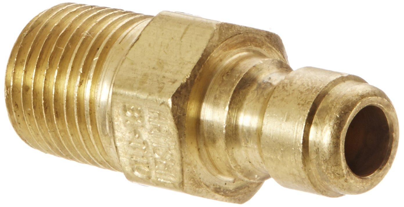Eaton Hansen B1T10 Brass Straight Through Ball Lock Hydraulic Fitting 1//8 Port Size 1//8-27 NPTF Male Plug Pack of 4 1//8 Body