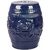 Amazon Com Asian Traditional Snow Blue Ceramic Garden