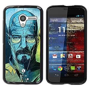 Be Good Phone Accessory // Dura Cáscara cubierta Protectora Caso Carcasa Funda de Protección para Motorola Moto X 1 1st GEN I XT1058 XT1053 XT1052 XT1056 XT1060 XT1055 // Walter Blu