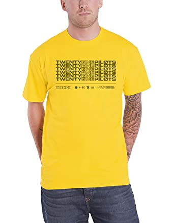 b3b7d51a3066 Twenty One Pilots T Shirt Official Trench Stacker Band Logo Mens Yellow  XXL: Amazon.co.uk: Clothing