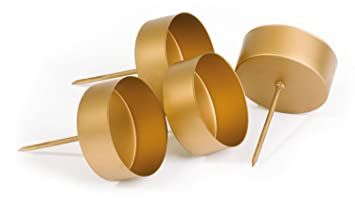 Adventskranz gold metall