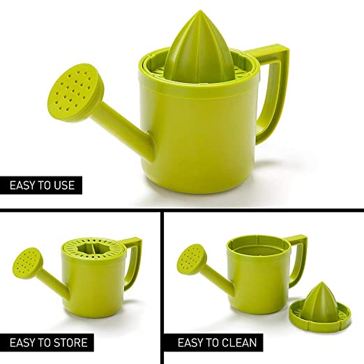 Green,Ugood Watering Can Shaped Juicer Green Plastic Squeezer With Pourer For Lemon Or Citru