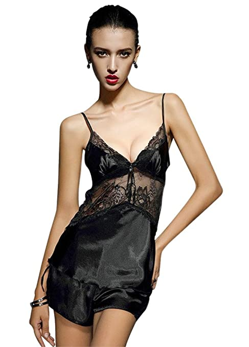 Amazon.com: Booty Gal Womens Sexy Lace Pajama Top and Shorts Nightwear Sets Sleepwear: Clothing