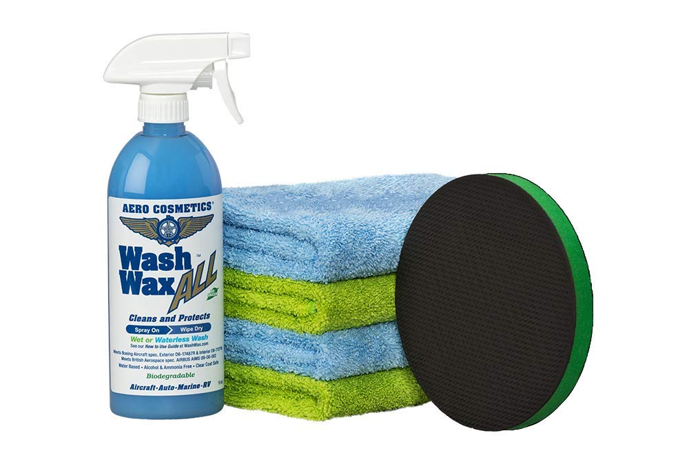 Wash Wax Clay Pad, Overspray Remover Kit, Paint Cleaner, Removes Overspray, Tree Sap & Other Contaminants from Paint, Glass, Chrome, Plastics, Better Than Clay Bar, Last Longer, Works Better Aero Cosmetics