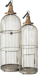 Imax 40516-2 Lenore Bird Cages - Set of 2 Bird Cage