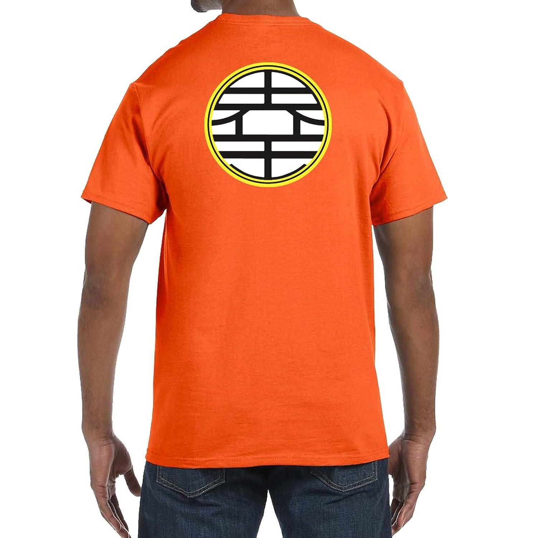 Goku Dragon Ball Back Design Men's XX-Large Orange T-Shirts