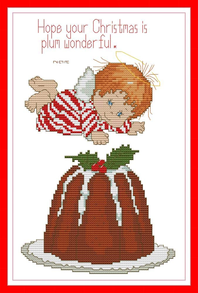 one, Stamped 11CT Christmas Topic Little Baby Angels CaptainCrafts New Stamped Cross Stitch Kits Preprinted Pattern Counted Embroidery Starter Kits for Beginner Kids and Adults