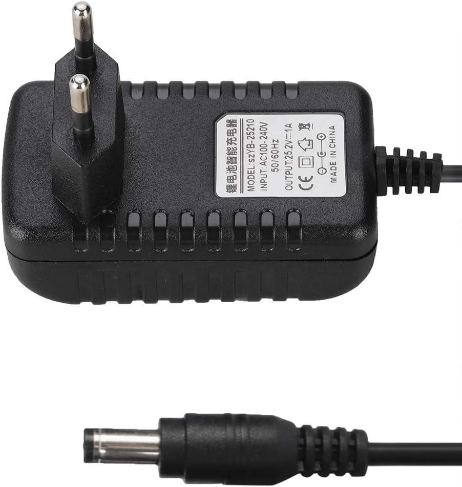 Adaptateur Secteur EU 25.2V//1A Adaptateur de Chargeur Li-ION avec Protections /à Plusieurs Niveaux Bloc D/'Alimentation Universel pour CCTV Cam/éra LED Lampes.