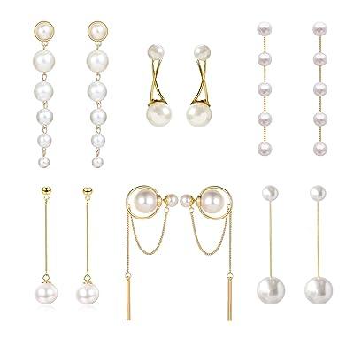 Pink Freshwater Pearls Long Tassel Drop Dangle Crystal Earrings Women Jewelry Gifts