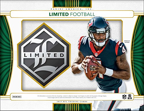 2017 Panini Limited Football Hobby Box (3 Packs/5 Cards: 2 Autographs, 1 Memorabilia including 1 Rookie Patch Autograph signed on-card)