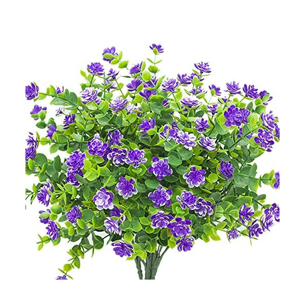 YISNUO-Artificial-Flowers-Fake-Outdoor-UV-Resistant-Plants-Faux-Plastic-Greenery-Shrubs-Indoor-Outside-Hanging-Planter-Home-Kitchen-Office-Wedding-Garden-DecorPurple