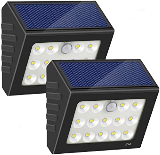 Luz Solar Exterior,14 LED Foco Solar Exterior Gran Ángulo Lámpara ...