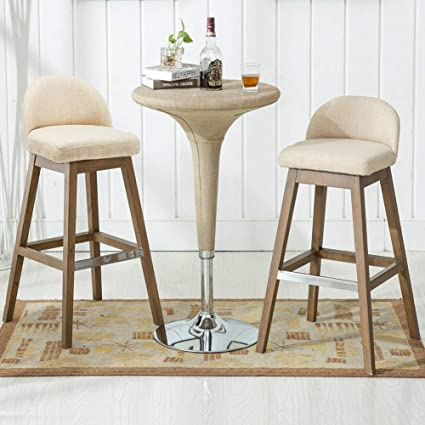 Amazon.com: Counter Height Bar Stools Set, Fabric ...