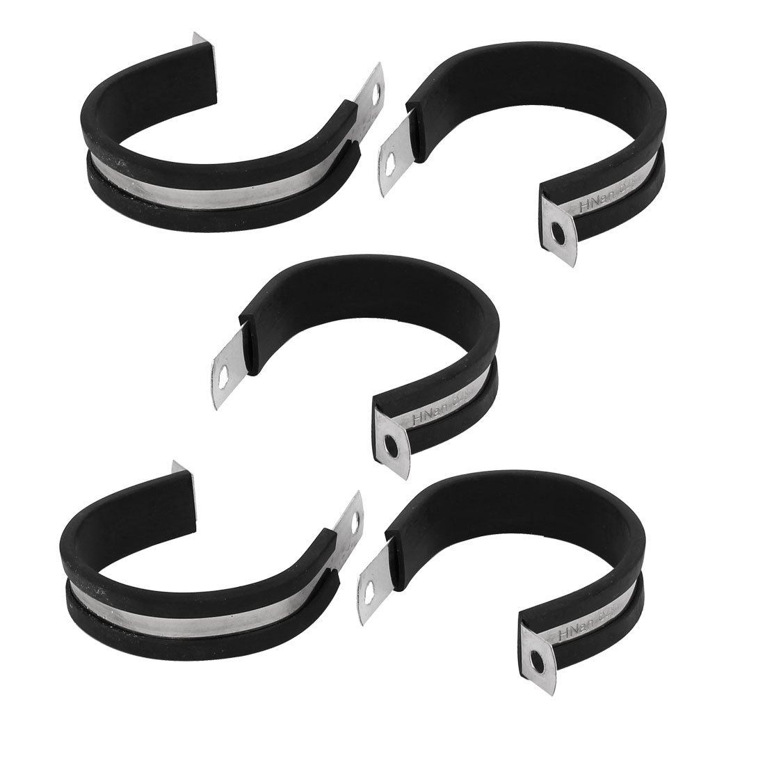 48mm Dia EPDM Rubber Lined P Clips Cable Hose Pipe Clamps Holder 5pcs 48mm Dia EPDM Rubber Lined P Clips Cable Hose Pipe Clamps Holder 5pcs