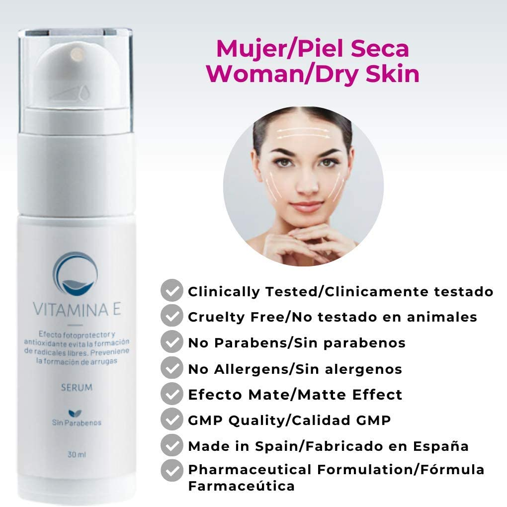 Serum Facial de Vitamina E 30 ml – Antioxidante Antiarrugas y ...