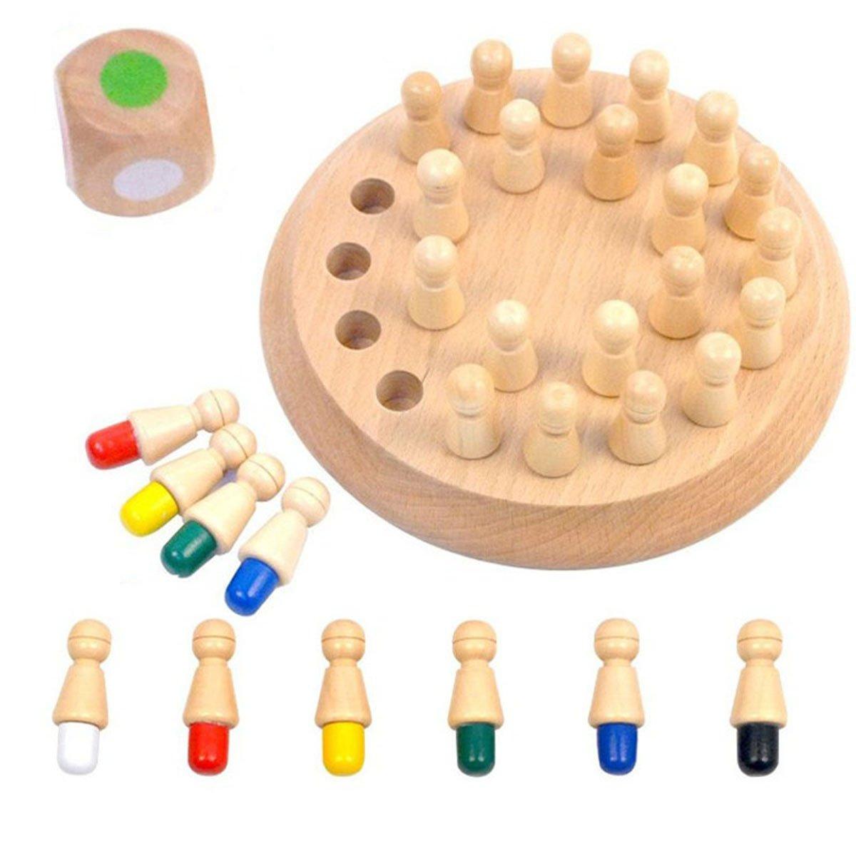 Toyvian Gioco di Scacchi in Legno Memory Stick Gioco di Bambini in et/à prescolare per Bambini