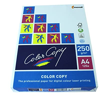 Mondi, color Copy 2382510051 - Papel para impresora a, color (A4, 250 g/m², 250 hojas), color blanco