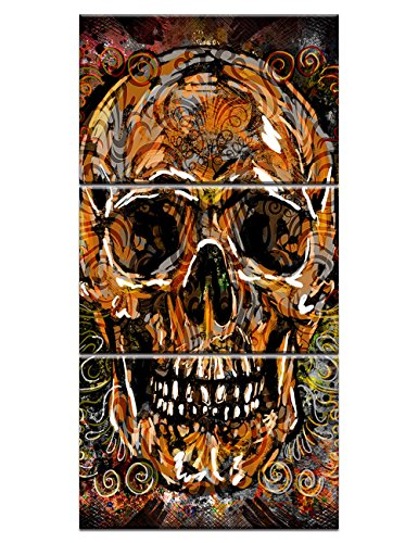 Skull of a Skeleton Oil Painting Reproduction on Canvas Human Bone Wet Skull Prints Day of the Dead Wall Art Giclee,Home Decor Wooden Framed Stretched Ready to Hang(20''Wx42''H) Day Art Print