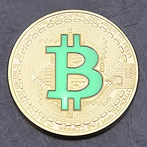 Buildent(TM) New Band Gold Plated Bitcoin Coin Collectible BTC Coin Art Collection Gift Physical Coins BTC120