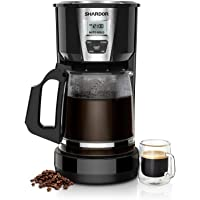 SHARDOR Drip Coffee Maker, 15 Cup Programmable Brew Coffee Machine, Automatic Start and Shut Off, Brew Strength Control, Warming Plate, Glass Carafe, 60oz, Black