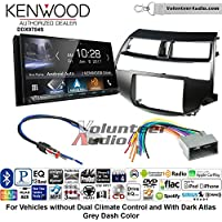 Volunteer Audio Kenwood DDX9704S Double Din Radio Install Kit with Apple Carplay Android Auto Fits 2008-2012 Honda Accord (Dark Atlas Grey)