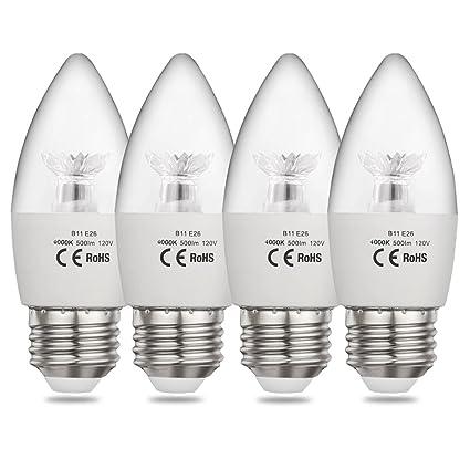 CPLA - Bombillas LED para lámpara de araña (60 W, equivalente a una base