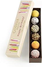 Godiva Chocolatier Happy Birthday Cake Chocolate Truffle Flight, Great for any gift, Birthday Gift, 6 Count