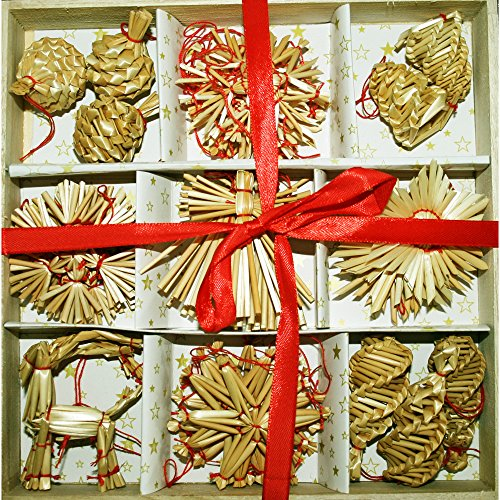Straw Ornament Assortment 34 pc product image