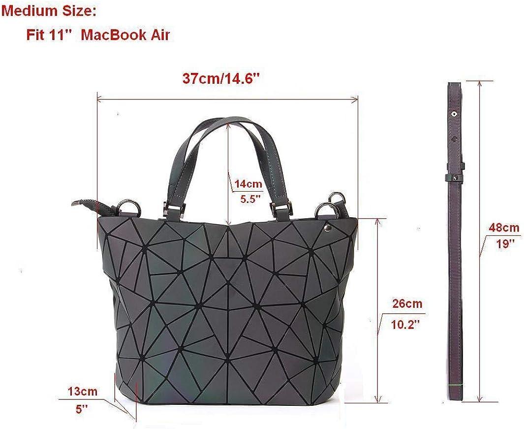 Femmes poignée sacs géométriques sac lumineux Sacs à main en cuir PU et sacs à main des femmes Sac à bandoulière sac à main holographique éco 3136 M