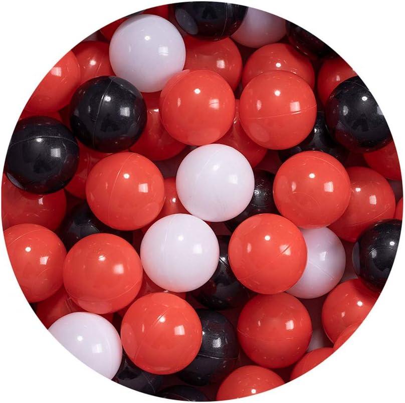 LIUFS Bola de Bola de Pop para niños Piscina de Ocean Ball Parque de diversiones Kindergarten de Interior Juego de Pelota Suave para el hogar de niños Bola de Burbujas - Serie roja