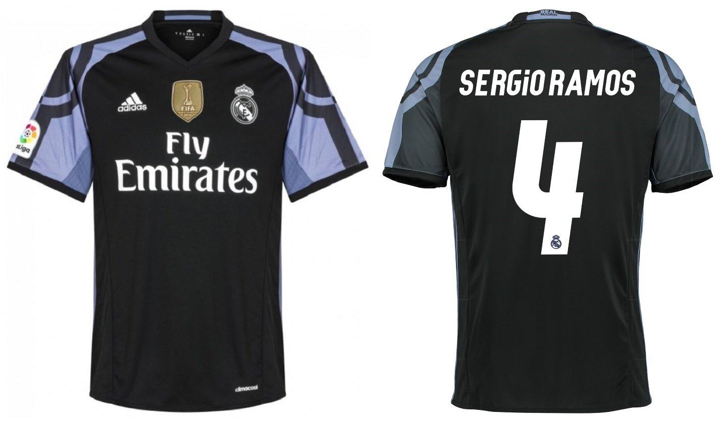 Trikot Kinder Real Madrid 2016-2017 Third WC - Sergio Ramos 4