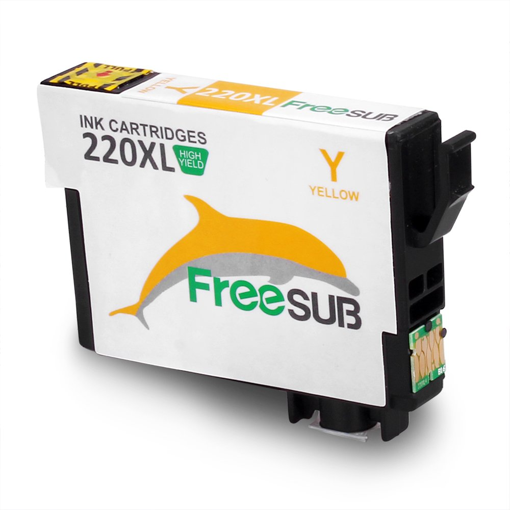 FreeSUB Remanufactured Ink Cartridges 6-Pack Replacement for Epson 220XL 220 Ink Cartridge, High Capacity 1 Set+2 Black Used for Epson WF-2630 WF-2650 WF-2660 WF-2750 WF-2760 XP-320 XP-420 XP-424 by FreeSUB (Image #5)