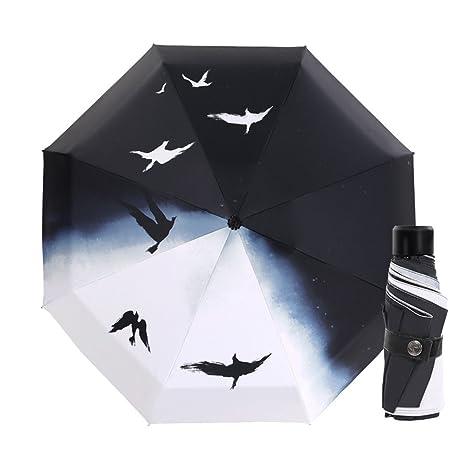 UBLLAS Grande/8 Huesos/Cinco Paraguas Plegable/Ultraligero/Mini/Paraguas De