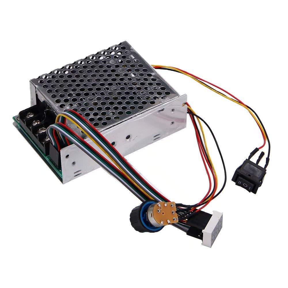 Kqiang DC10-55V Motor Speed Controller PWM Regulator Control Switch LED Digital Display