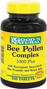 Amazon.com: Bee Pollen Complex - 100 tabs,(Good'n Natural