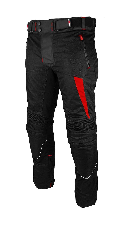 Motorcycle Waterproof Cordura Textile Trousers Pants Armours For Mens Boys Black Size Medium Motorbike Trouser