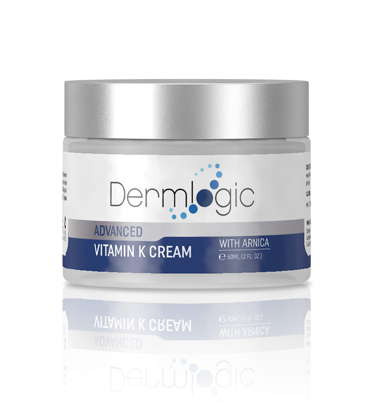 Dermlogic Vitamin K Cream - Reduces Under Eye Dark Circles, Fine Lines, Puffiness, Wrinkles w/ Arnica. Dark Spot Corrector