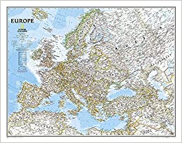 national geographic europe map National Geographic: Europe Classic Wall Map   Laminated (30.5 x