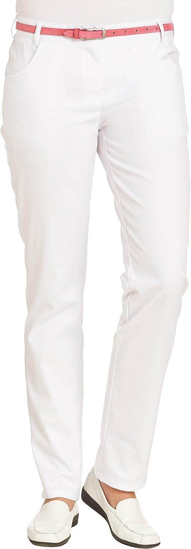 clinicfashion 10612030 Damenhose Stretch Dehnbund Weiß - 2er-pack